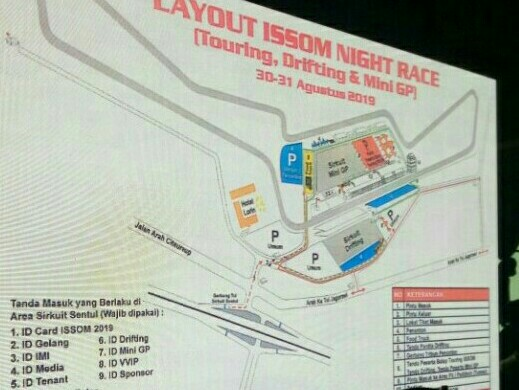Layout ISSOM Night Race 2019 Di Sirkuit Sentul